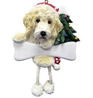 Labradoodle Christmas Tree Ornament Personalized