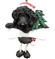 Labradoodle Christmas Tree Ornament Personalized (Black)