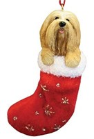 Lhasa Apso Christmas Ornament Stocking