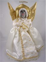 Lhasa Apso Christmas Angel Tree Topper
