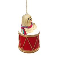 Lhasa Apso Little Drummer Christmas Ornament