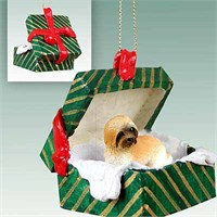 Lhasa Apso Christmas Ornament Gift Box