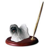 lhasa apso pen holder 14051 Lhasa Apso Pen Holder (Gray)