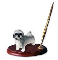 lhasa apso pen holder 14052 Lhasa Apso Pen Holder ( Gray Sport cut)