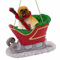Lhasa Apso Christmas Ornament Sleigh Ride