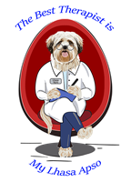 Lhasa Apso T Shirt Best Therapist