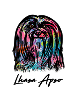 Lhasa Apso T Shirt Colorful Abstract