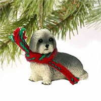 Lhasa Apso Tiny One Christmas Ornament Gray Sport Cut