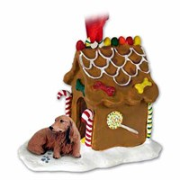 Dachshund Christmas Ornament Gingerbread House
