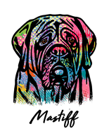 Mastiff T Shirt Colorful Abstract