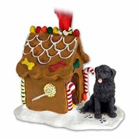 Newfoundland Gingerbread House Christmas Ornament
