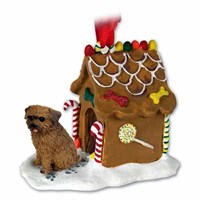 Norfolk Terrier Gingerbread House Christmas Ornament