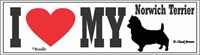 Norwich Terrier Bumper Sticker I Love My