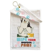 Old English Sheepdog Paw Wipe Towel