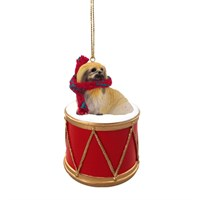 Pekingese Little Drummer Christmas Ornament