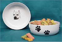 American Staffordshire Terrier Dog Bowl