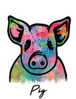 Pig T Shirt Colorful Abstract