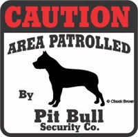 Patrolled by Pit Bull sticker