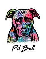 Pit Bull T Shirt Colorful Abstract