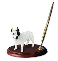 Pit Bull Terrier Pen Holder (White)