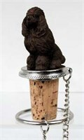 Poodle Bottle Stopper (Chocolate)