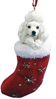 Poodle Christmas Stocking Ornament
