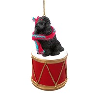 Poodle Black Little Drummer Christmas Ornament