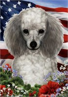 Poodle House Flag Silver