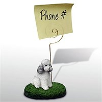 Poodle Note Holder (Gray Sport cut)