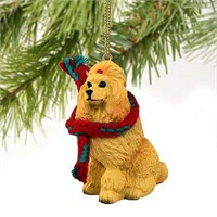 Poodle Christmas Ornament Apricot