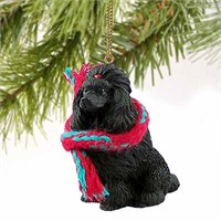 Poodle Christmas Ornament Black