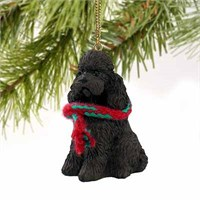 Poodle Christmas Ornament Chocolate Sport Cut