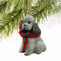 Poodle Christmas Ornament Gray Sport Cut
