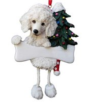 Poodle Christmas Tree Ornament Personalized