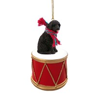 Portuguese Water Dog Little Drummer Christmas Ornament