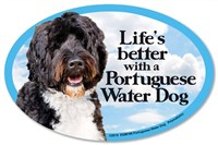 Portuguese Water Dog Car Magnet - Life's Better