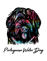 Portuguese Water Dog T Shirt Colorful Abstract
