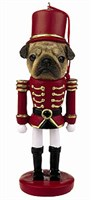 Pug Christmas Ornament Nutcracker