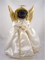 Pug Christmas Angel Tree Topper