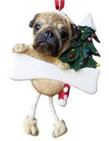 Pug Christmas Tree Ornament Personalized