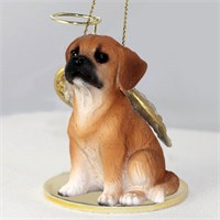 Puggle Angel Ornament Brown