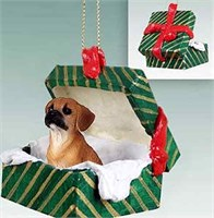 Puggle Christmas Ornament Gift Box