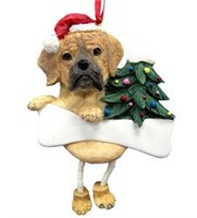 Puggle Christmas Ornament Tree Personalized