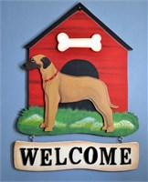 Rhodesian Ridgeback Welcome Sign