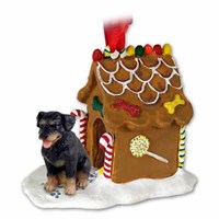 Rottweiler Gingerbread House Christmas Ornament