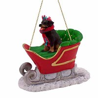 Rottweiler Sleigh Ride Christmas Ornament