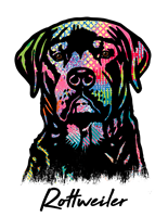 Rottweiler T Shirt Colorful Abstract
