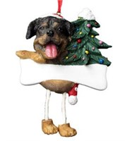 Rottweiler Christmas Tree Ornament Personalized