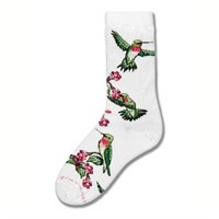 Ruby Hummingbird Socks