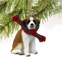 Saint Bernard Christmas Ornament Smooth Coat